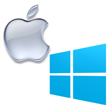 mac and windows logos